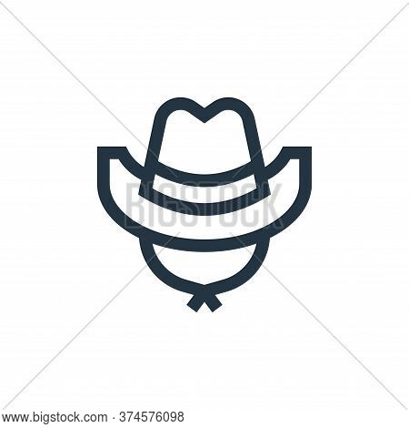 cowboy hat icon isolated on white background from united states of america collection. cowboy hat ic
