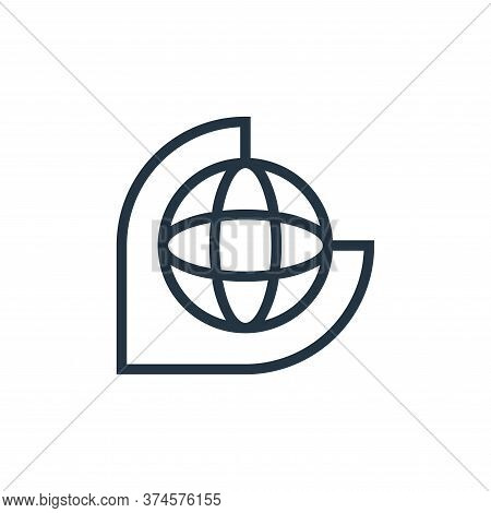 globe icon isolated on white background from education collection. globe icon trendy and modern glob