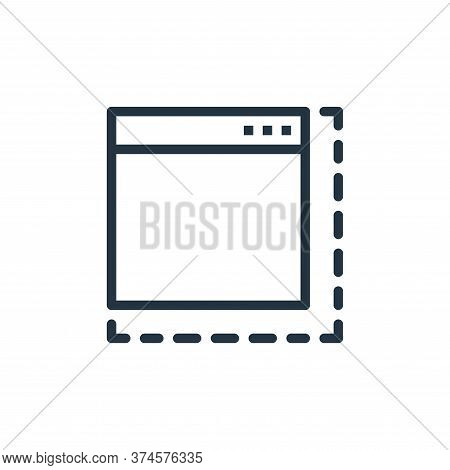 browser icon isolated on white background from user interface collection. browser icon trendy and mo