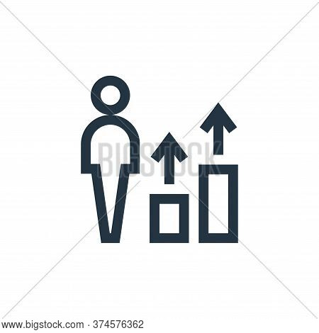 career icon isolated on white background from job resume collection. career icon trendy and modern c