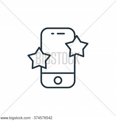 rating icon isolated on white background from ecommerce collection. rating icon trendy and modern ra