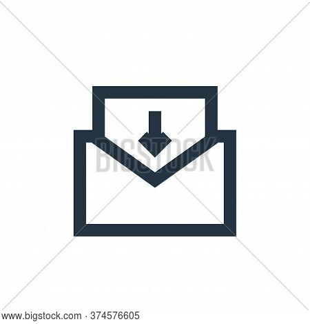 inbox mail icon isolated on white background from user interface collection. inbox mail icon trendy