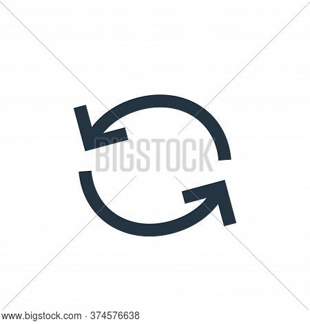 refresh icon isolated on white background from user interface collection. refresh icon trendy and mo