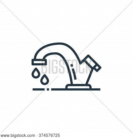 water tap icon isolated on white background from washing hand collection. water tap icon trendy and