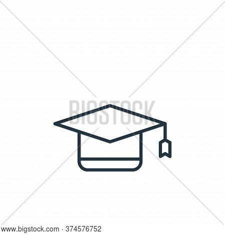 graduation cap icon isolated on white background from education collection. graduation cap icon tren