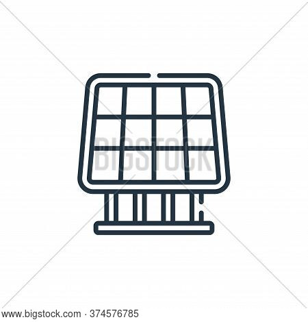 solar panel icon isolated on white background from smart farm collection. solar panel icon trendy an