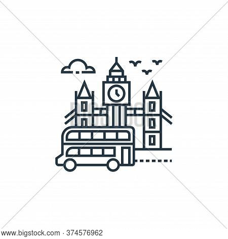 big ben icon isolated on white background from tourism collection. big ben icon trendy and modern bi