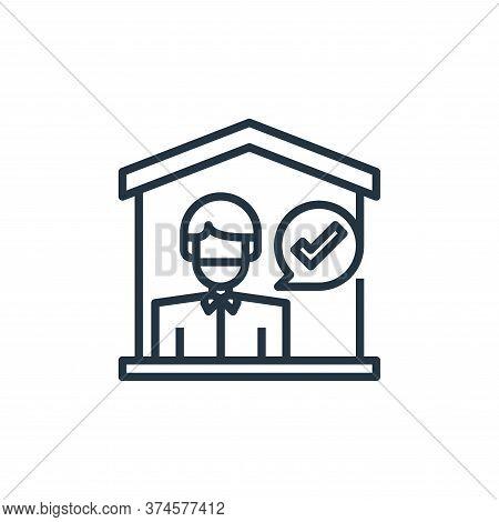 quarantine icon isolated on white background from coronavirus collection. quarantine icon trendy and