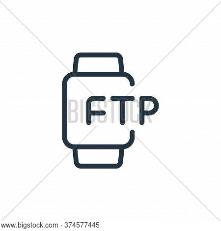 smartwatch icon isolated on white background from data transfer collection. smartwatch icon trendy a