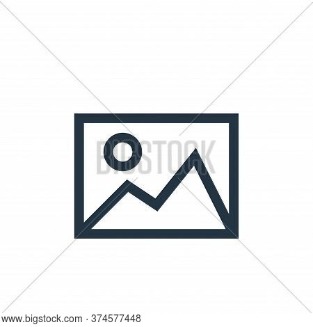 image icon isolated on white background from web essentials collection. image icon trendy and modern