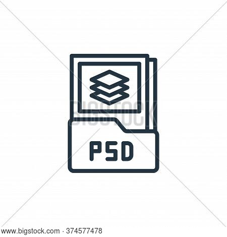 psd file icon isolated on white background from graphic design collection. psd file icon trendy and