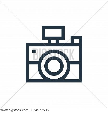 camera icon isolated on white background from advertisement collection. camera icon trendy and moder