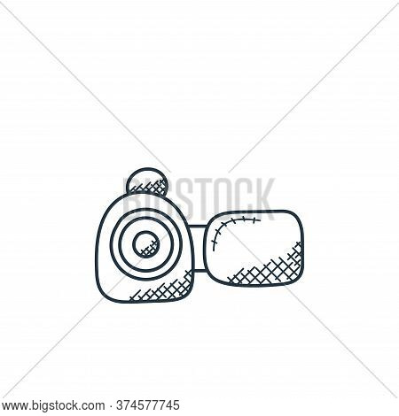 camcorder icon isolated on white background from technology collection. camcorder icon trendy and mo