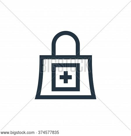shopping bag icon isolated on white background from pharmacy collection. shopping bag icon trendy an