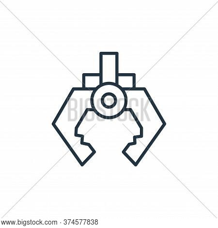 arm icon isolated on white background from robotics collection. arm icon trendy and modern arm symbo