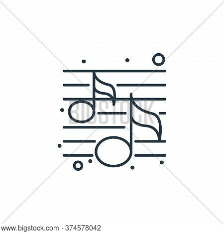 music icon isolated on white background from brazilian carnival collection. music icon trendy and mo