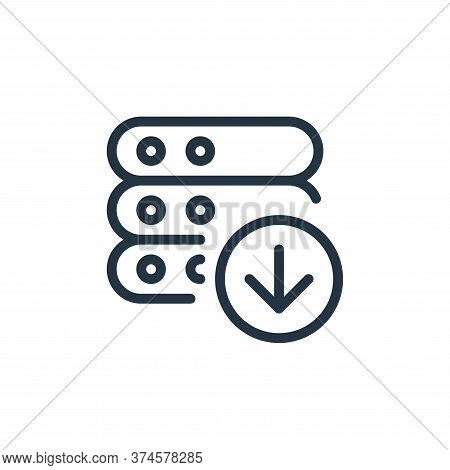 download icon isolated on white background from work office server collection. download icon trendy