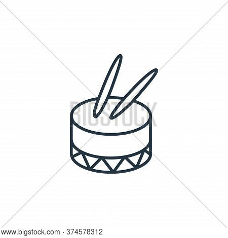 drum icon isolated on white background from music instruments collection. drum icon trendy and moder