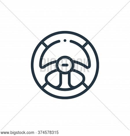 steering wheel icon isolated on white background from autoracing collection. steering wheel icon tre