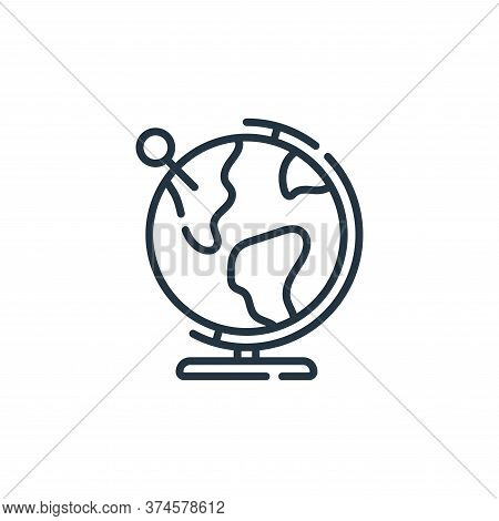 globe icon isolated on white background from navigation and maps collection. globe icon trendy and m