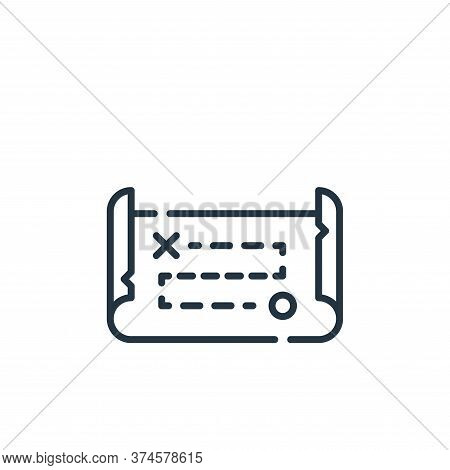 treasure map icon isolated on white background from desert collection. treasure map icon trendy and
