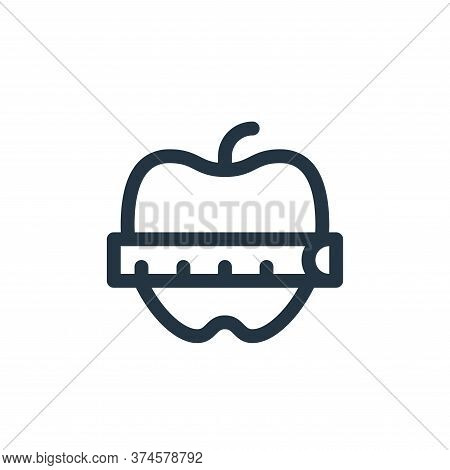 apple icon isolated on white background from pilates collection. apple icon trendy and modern apple
