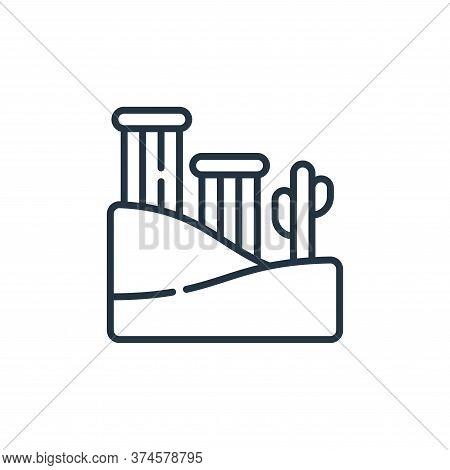 ruins icon isolated on white background from desert collection. ruins icon trendy and modern ruins s