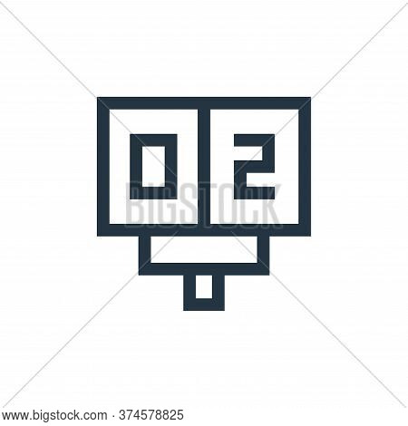 scoreboard icon isolated on white background from soccer collection. scoreboard icon trendy and mode