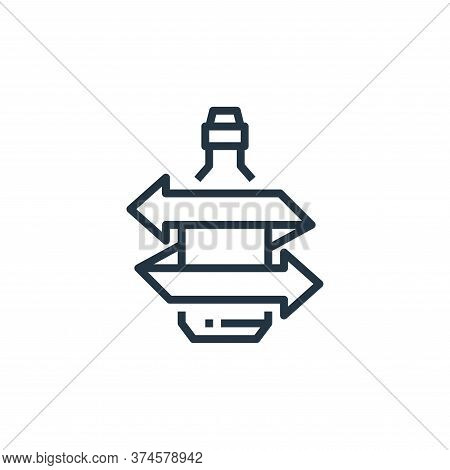 glass bottle icon isolated on white background from recycling collection. glass bottle icon trendy a
