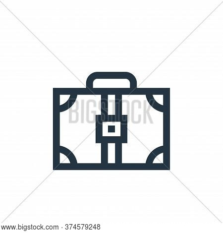 suitcase icon isolated on white background from hippies collection. suitcase icon trendy and modern