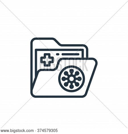 folder icon isolated on white background from coronavirus collection. folder icon trendy and modern