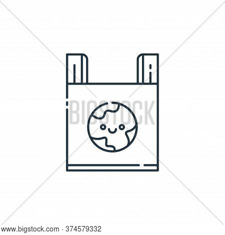 plastic bag icon isolated on white background from mother earth day collection. plastic bag icon tre