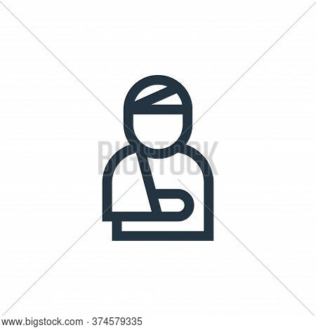 injury icon isolated on white background from insurance collection. injury icon trendy and modern in