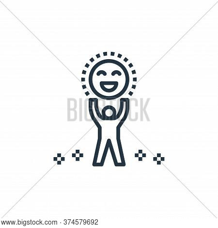 enjoy icon isolated on white background from work life balance collection. enjoy icon trendy and mod
