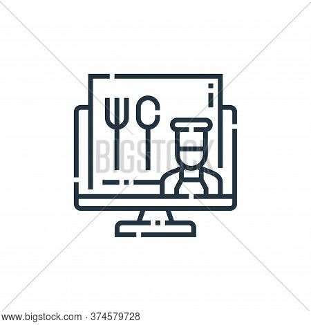 food icon isolated on white background from videoblogger collection. food icon trendy and modern foo