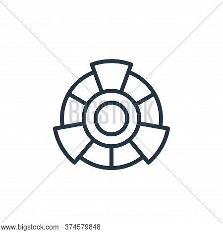 color wheel icon isolated on white background from graphic design collection. color wheel icon trend