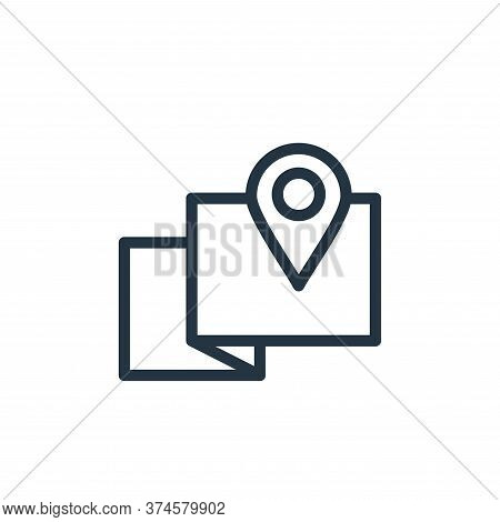 map point icon isolated on white background from navigation collection. map point icon trendy and mo