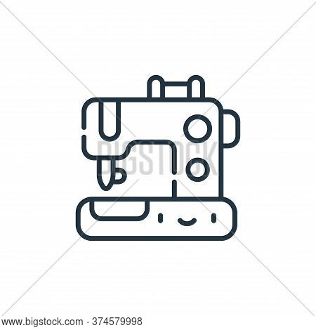 sewing machine icon isolated on white background from labour day collection. sewing machine icon tre