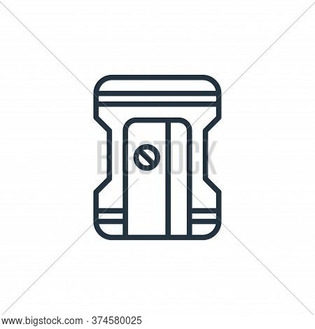 sharpener icon isolated on white background from stationery collection. sharpener icon trendy and mo