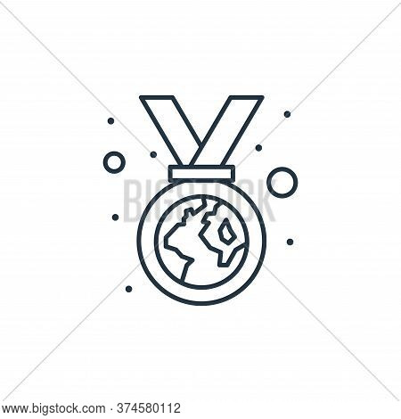 medal icon isolated on white background from earth day collection. medal icon trendy and modern meda