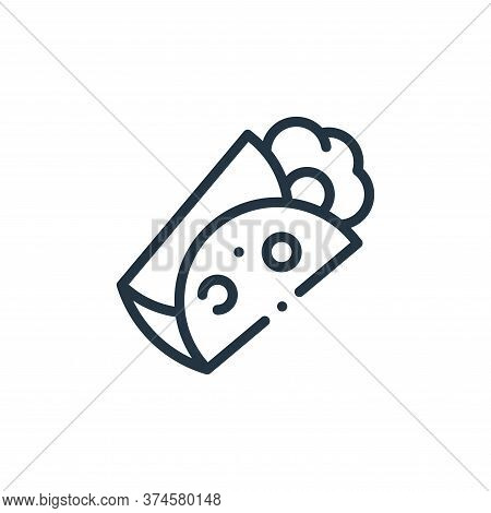 burrito icon isolated on white background from mexico collection. burrito icon trendy and modern bur