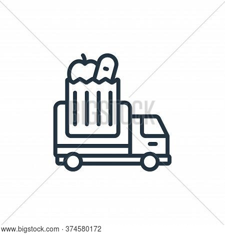 grocery truck icon isolated on white background from self isolation collection. grocery truck icon t