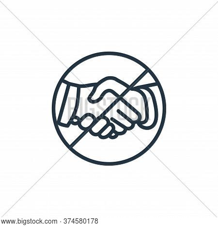 handshake icon isolated on white background from stop virus collection. handshake icon trendy and mo