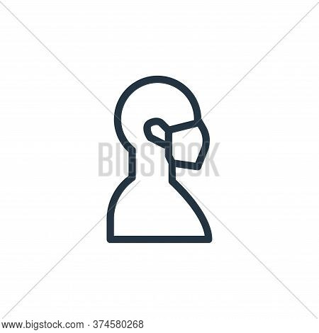 mask icon isolated on white background from coronavirus collection. mask icon trendy and modern mask