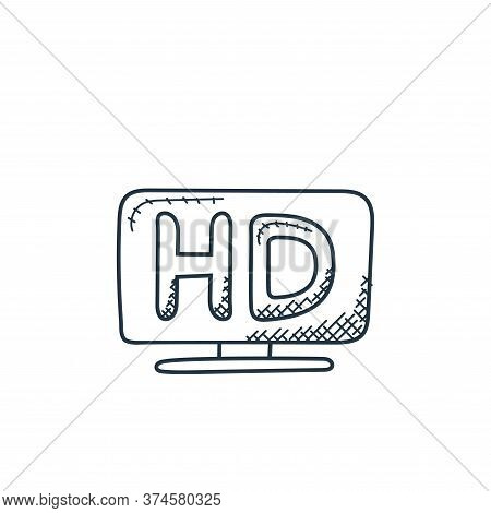 hd screen icon isolated on white background from technology collection. hd screen icon trendy and mo