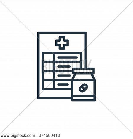 prescription icon isolated on white background from coronavirus collection. prescription icon trendy