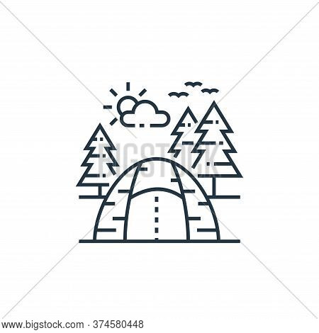 camping icon isolated on white background from tourism collection. camping icon trendy and modern ca