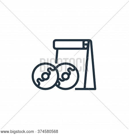 doughnut icon isolated on white background from food delivery collection. doughnut icon trendy and m