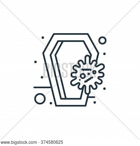 coffin icon isolated on white background from coronavirus collection. coffin icon trendy and modern