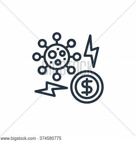 global economy icon isolated on white background from coronavirus collection. global economy icon tr